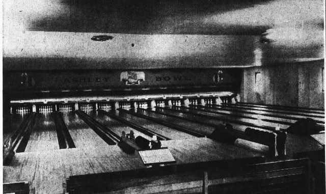 Ashley Bowl, located on 53-59 North Main Street in Ashley, was the first bowling establishment in the area to get air conditioning in 1947. Times Leader file photo