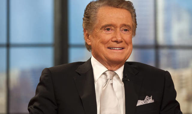 "In this Nov. 18, 2011, file photo, Regis Philbin appears on his farewell episode of ""Live! with Regis and Kelly"" in New York. Philbin, the genial host who shared his life with television viewers over morning coffee for decades and helped himself and some fans strike it rich with the game show ""Who Wants to Be a Millionaire,"" has died on Friday, July 24, 2020. AP Photo 