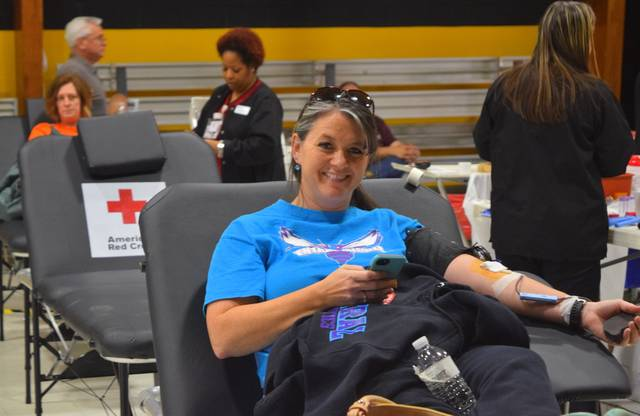 <p>A donor waits paitently for her blood to be drawn during a 2018 blood drive. Alana Mauger, Biomedical Field Marketing and Communications at American Red Cross, said as COVID-19 cases surge across the country, the American Red Cross now has an emergency shortage of convalescent plasma — a type of blood donation collected from individuals who have recovered from COVID-19 containing antibodies that might help patients who are actively fighting the virus.</p> <p>File Photo</p>