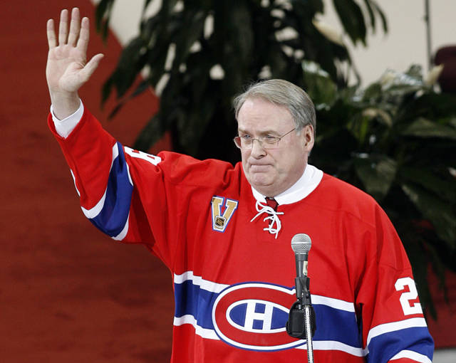 <p>In this Jan. 29, 2007 file photo, former Montreal Canadiens goaltender Ken Dryden waves to the crowd at the Bell Centre as his number is retired during a pre-game ceremony in Montreal.</p> <p>AP photo</p>