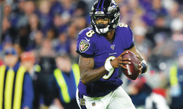 Baltimore Ravens quarterback Lamar Jackson, the reigning NFL MVP, is eager to get started at training camp practice following an offseason in which he had a perilous encounter with a jet ski, tossed footballs to Antonio Brown and diligently avoided the coronavirus. AP photo