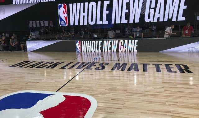 """A basketball court is shown at the ESPN Wide World of Sports complex in Kissimmee, Fla. The NBA's marketing motto for the restart of the season at Walt Disney World is """"Whole New Game,"""" and in many respects, that's very true. AP photo"""