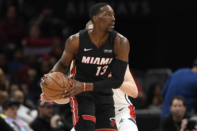 <p>In this March 8, 2020, file photo, Miami Heat forward Bam Adebayo (13) looks for an outlet during the second half of an NBA game against the Washington Wizards in Washington. With the return of NBA basketball, players and coaches are determined to ensure they use this opportunity and their platform to make polarizing statements at a time when the demand for racial equality is as loud as it has been in generations.</p> <p>AP photo</p>