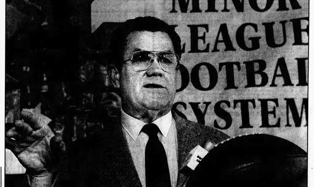 Swoyersville native Walt Michaels stepped down as head coach of the Scranton/Wilkes-Barre Stallions of the Minor League Football System in 1990 due to health reasons. Michaels was a head coach in the NFL and USFL. Times Leader file photo