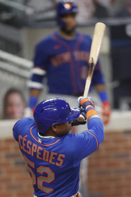 """<p>The New York Mets' Yoenis Cespedes follows thorough on a two-run double in the fifth inning of a game against the Atlanta Braves on Friday in Atlanta.</p> <p>AP photo</p> <p>""""></p> <p>The New York Mets' Yoenis Cespedes follows thorough on a two-run double in the fifth inning of a game against the Atlanta Braves on Friday in Atlanta.</p> <p>AP photo</p> </p></div> <p>ATLANTA — New York Mets slugger Yoenis Céspedes opted out of the 2020 season on Sunday because of the coronavirus pandemic, providing some clarity after the team said it was unable to locate him. </p> <p>Céspedes did not report to the ballpark for the Mets' game at Atlanta, and the team said in a statement it had been unable to contact him. General manager Brodie Van Wagenen said the organization was notified by Céspedes' agent during its 4-0 loss that he had decided to opt out for """"for COVID-related reasons.""""</p> <p>Céspedes went 0 for 4 during a 7-1 loss Saturday night in Atlanta. He is 5 for 31 (.161) with 15 strikeouts this season.</p> <p>A two-time All-Star, the 34-year-old Céspedes returned to the lineup this season for the first time since July 20, 2018. He missed most of the past two years with a series of leg problems, getting surgery on both heels and then a broken ankle after a tumble at his Florida ranch in a supposed run-in with a wild boar.</p> <p>Céspedes had been the Mets' designated hitter this season, taking advantage of a new rule this year that allows DHs in the National League.</p> <p>Because he didn't begin the season on the injured list with a foot injury, Céspedes' salary rose from $2,222,222 prorated ($6 million before the schedule was shortened) to $4,074,074 ($11 million before the change).</p> <p>The Mets also made two trades, getting outfielder Billy Hamilton and dealing away pitcher Tyler Bashlor.</p> <p>The speedy Hamilton was acquired from San Francisco for right-hander Jordan Humphreys. The 29-year-old Hamilton was part of the Giants' 60-man player pool, but hadn't bee"""