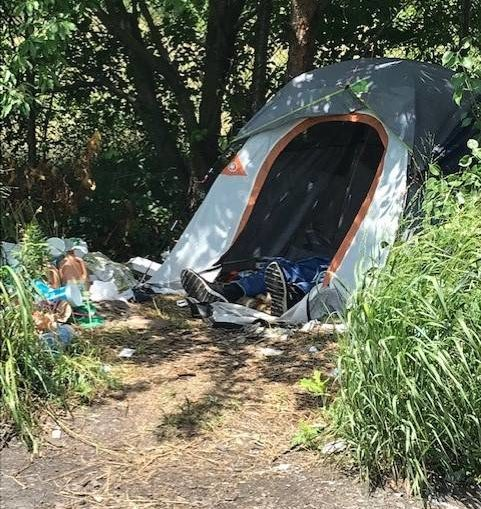 Hazmat contractor cleans up homeless camp in Wilke-Barre
