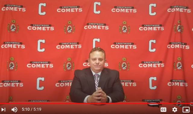 Crestwood Superintendent Bob Mehalick announced the district will conduct all lessons by full-remote learning until at least Oct. 1 in a video posted online.