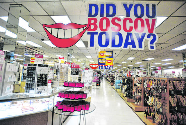 The inside of Boscov's Wilkes-Barre store is seen in this file photo. For each of the past 23 years, the Boscov's'Friends Helping Friends' event has helped raise hundreds of thousands of dollars for local nonprofit organizations. This year, in the midst of the COVID-19 pandemic, the chain is hoping to donate $1 million.                                  Times Leader file photo