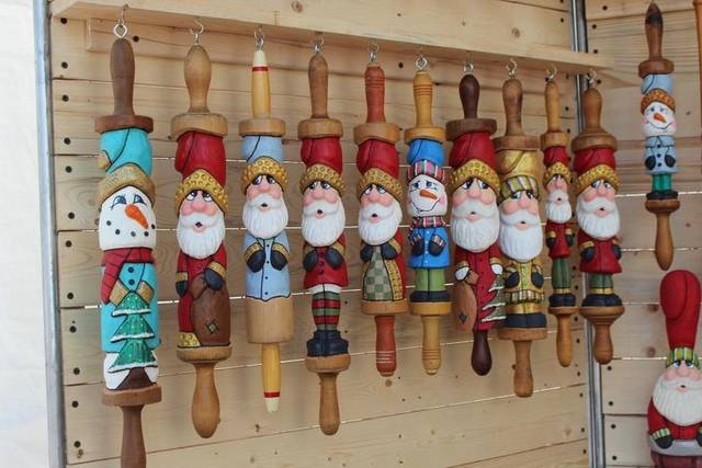 Old rolling pins, darning eggs, baseball bats turn whimsical