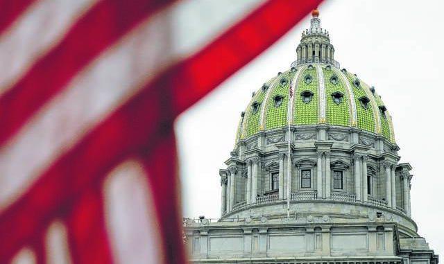The Pennsylvania Capitol building in Harrisburg.
