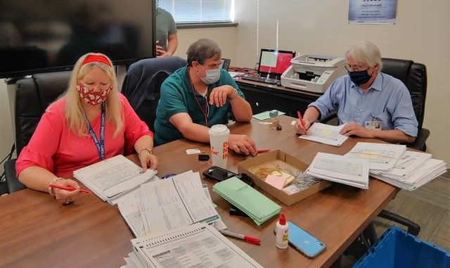 Luzerne County Election Board members monitoring discarded ballot findings