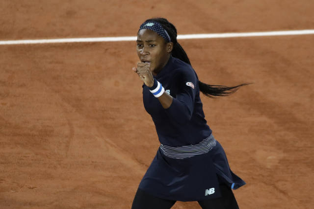 Gauff ousts 9th seed in French Open debut