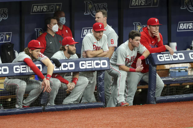 Phillies eliminated from race by AL East champion Rays, 5-0