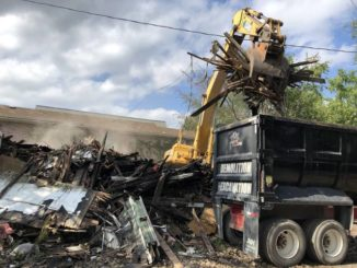 Fire-damaged house in Wilkes-Barre razed