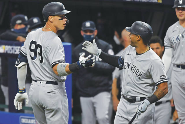 Yankees hammer Indians 12-3 in Game 1 for lead in wild-card series