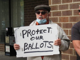 Protestors blast Luzerne County over discarded military ballots
