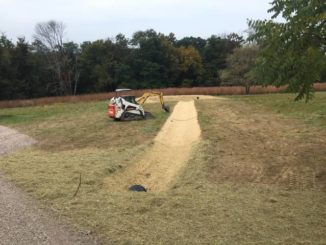 Lehman Sanctuary adds swale and rain garden to teaching tools