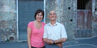 Ruth meets her uncle Giovanni in Italy.                                  Courtesy Ruth Corcoran