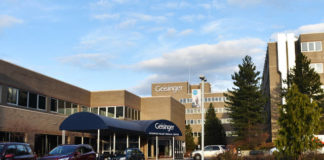 The outside of Geisinger Wyoming Valley Medical Center is seen in a file photo. The Geisinger system announced Tuesday that it will temporarily restrict routine, in-person visits to hospitalized patients beginning Monday, Nov.2, until further notice.                                  Times Leader file photo