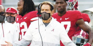 Nick Saban previously had a false alarm with a COVID-19 test, but the Alabama coach will miss the Iron Bowl.                                  Mickey Welsh | AP photo, The Montgomery Advertiser