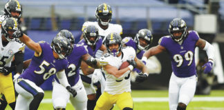The Steelers and Ravens game scheduled for tonight has been shifted to Sunday because of a COVID-19 outbreak on Baltimore's roster.                                  Gail Burton | AP file photo
