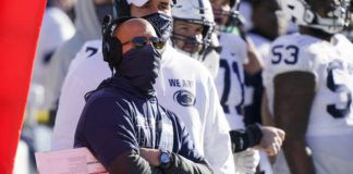 Penn State head coach James Franklin watches from the sideline during the second half of an NCAA college football game against Michigan on Nov. 28 in Ann Arbor, Mich.                                  AP file photo