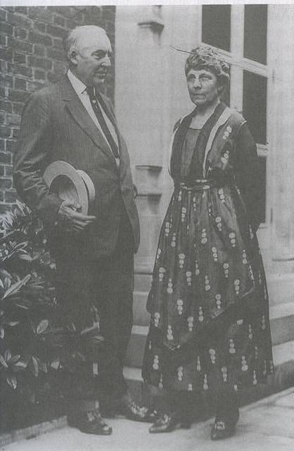 <p>First Lady Florence Harding, right, shown with her husband President Warren G. Harding, managed the Ohio newspaper that he owned before he became President.</p>