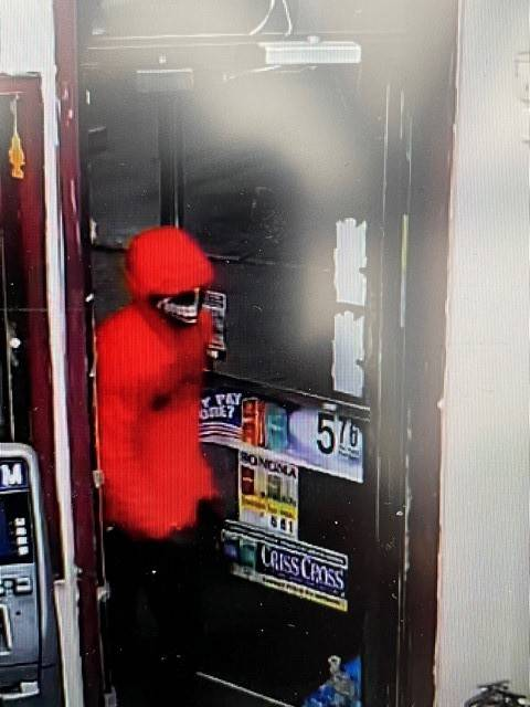 <p>This individual is wanted after he allegedly shot and killed Ashokkumar Patel while attempting to rob Craig's Food Mart. Photo courtesy of the Luzerne County District Attorney's Office</p>                                  <p>Surveillance image</p>