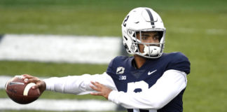 Quarterback Micah Bowens has entered his name into the NCAA's online transfer portal after one season at Penn State.                                  Barry Reeger | AP file photo