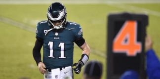 The future for Eagles quarterback Carson Wentz remains up in the air as the team remains in the hunt to hire a new coach to replace Doug Pederson.                                  Derik Hamilton | AP file photo