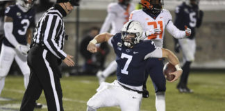After splitting time at quarterback in 2020, Will Levis announced Thursday he will be leaving Penn State.                                  Barry Reeger | AP file photo