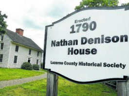 The 1790 Denison House in Forty Fort is seen in a file photo.                                  Times Leader file photo