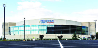 the Mohegan Sun Arena at Casey Plaza is seen in a file photo. The Wilkes-Barre/Scranton Penguins and the Luzerne County Convention Center Authority have agreed to reduced revenues due to the schedule shortened by the ongoing novel coronavirus pandemic and the decision not to allow fans in the seats at the Mohegan Sun Arena at Casey Plaza.                                  Times Leader file photo