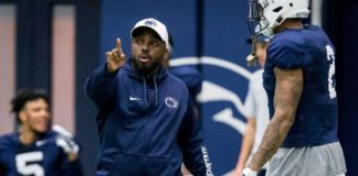 After five seasons as Penn State's safeties coach, Tim Banks has left the Nittany Lions for a promotion. Banks was officially hired as Tennessee's new defensive coordinator on Monday.                                  Joe Hermitt | AP file photo, The Patriot-News