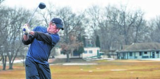Ron Salio of Pittston jump starts his golf season by practicing tee shots with his driver at Hollenback Golf Club in Wilkes-Barre in this file photo. City Council on Thursday approved Mayor George Brown's plan to lease the public, nine-hole course as a cost-cutting measure.                                  Times Leader file photo