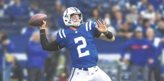 This digitally altered photo created by the Colts puts Carson Wentz in his new colors — and new uniform number — after the quarterback officially joined Indianapolis in a trade with the Eagles Wednesday.                                  Indianapolis Colts