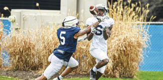 Veteran cornerback Tariq Castro-Fields (5) is part of a secondary that Penn State coach James Franklin said has a chance to be special in 2021.                                  Mark Selders   Penn State Athletics