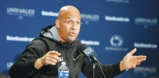 Penn State coach James Franklin said Wednesday that the new immediate transfer eligibility rule won't be a major difference for programs, who were already seeing players get waivers in order to not sit out a year.                                  Abby Drey | AP file photo, Centre Daily Times