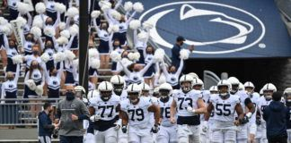 For the first time in more than a year, coach James Franklin and the Nittany Lions ran through the Beaver Stadium tunnel in front of some semblance of a crowd for a scrimmage on Saturday.                                  Penn State Athletics