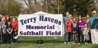 Nanticoke Area field decidated                                 Nanticoke Area dedicated its new softball field on the school campus prior to Monday's game against Hanover Area. The field was named in honor of Terry Havens, who was a longtime benefactor of Nanticoke Area athletics, particularly Trojanette softball and the Nanticoke Little League. The softball team as well as the Little League will use the field.                                  Submitted photo