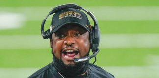 Entering his 15th season as Steelers coach, Mike Tomlin is now under contract through 2024 after signing an extension on Tuesday.                                  Seth Wenig | AP file photo