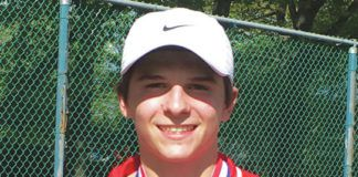 Crestwood's Ben Ziegler won the school's first District 2 boys tennis singles title on Wednesday.                                  Tom Robinson | For Times Leader