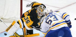 Tristan Jarry was in net for two playoff runs with Wilkes-Barre/Scranton and is now set to start Sunday's playoff opener for Pittsburgh.                                  Gene J. Puskar | AP file photo