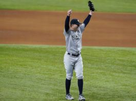 Yankees pitcher Corey Kluber celebrates after the final out of his no-hitter against the Rangers on Wednesday, a night after the Tigers' Spencer Turnbull accomplished the feat. It's the first time since 1969 that there were no-hitters on consecutive days.                                  Tony Gutierrez | AP photo