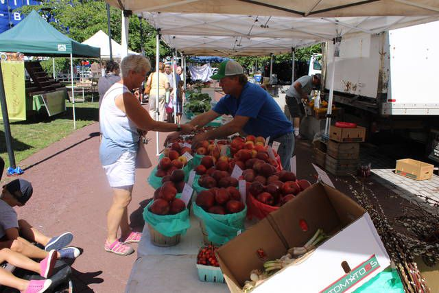<p>Ray Zimmerman, right, could be found in his familiar spot near the North Main Street entrance to Public Square as the Wilkes-Barre Farmers Market opened Thursday for another season.</p>                                  <p>Jerry Lynott | Times Leader</p>