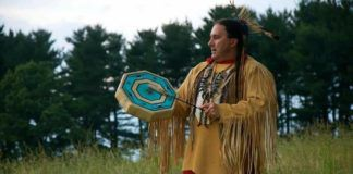 Traditional artist Frank Littlebear of the Cree Nation will share music and dance with audiences at the Everhart Museum in Scranton on Saturday.