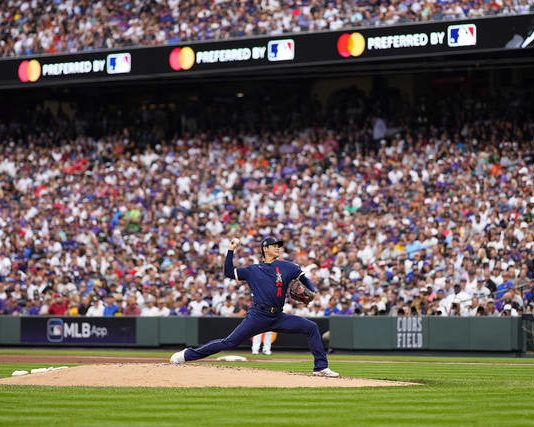 American League starting pitcher Shohei Ohtan throws during the first inning of the MLB All-Star baseball game on Tuesday in Denver.                                  Jack Dempsey | AP photo