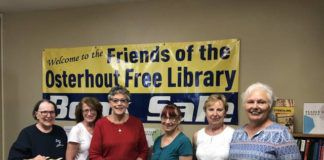 The Friends of the Osterhout Free Library are relocating their book shop to a different location inside the Osterhout Free Library this summer. To make room for the new spot, the Friends are hosting a moving sale 10 a.m. to 2 p.m. Saturday, July 17, at the Osterhout Free Library, 71 South Franklin Street, Wilkes-Bare. Shoppers can fill a bag for just $5. For additional details or questions, please contact Amber Loomis, Director of Development, ataloomis@luzernelibraries.org or 570-823-0156, ext. 218. Shown from left are: Cynthia Bhagat, Kathleen Hannon, Irene Martin, Linda Kubiak, Claire Vassia, Diane Krokos.                                  Submitted