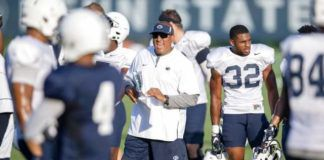 Penn State running backs coach Ja'Juan Seider has helped the Nittany Lions land another blue-chip rusher from his home state of Florida as IMG Academy's Kaytron Allen committed to the Lions on Friday.                                  Abby Drey   AP file photo, Centre Daily Times