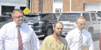 Dana Ganjeh is seen when he was arrested by Kingston police and Luzerne County detectives on Aug. 4, 2018.                                  Times Leader file photo